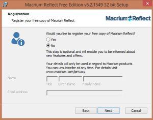 install Macrium 1
